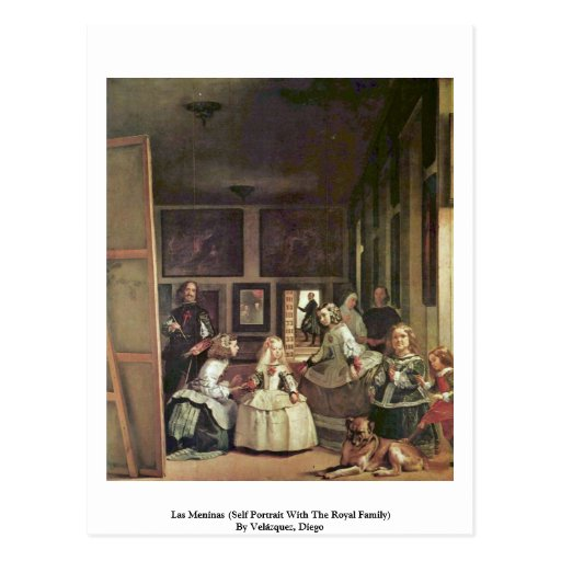 Las Meninas (Self Portrait With The Royal Family) Post Cards
