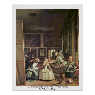 Las Meninas (Self Portrait With The Royal Family) Poster