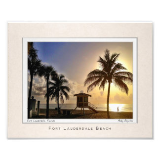 Las Olas by the Beach Photo Print