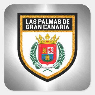 Las Palmas de Gran Canaria Flag Square Sticker