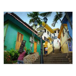Las Peñas Neighborhood, Guayaquil, Ecuador Postcard