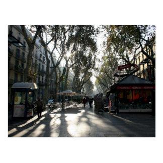 Las Ramblas, Barcelona, postcard