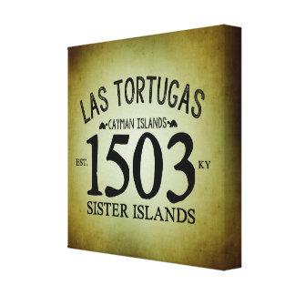 Las Tortugas EST. 1503 Rustic Canvas Print