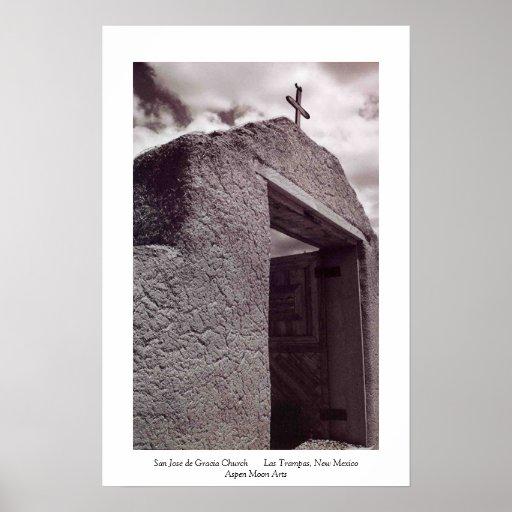 Las Trampas New Mexico Church Poster