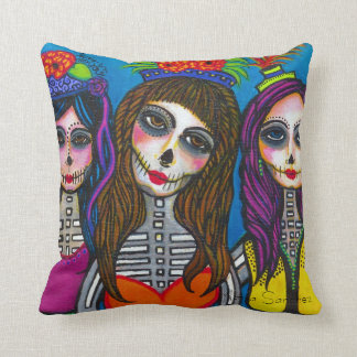 Las Tres Catrinas Pillow