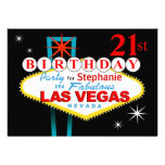Las Vegas 21st Birthday Party Custom Invitation