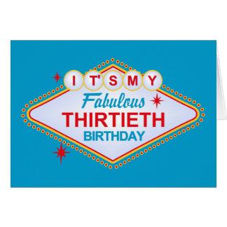 Las Vegas 30th Birthday Greeting Card