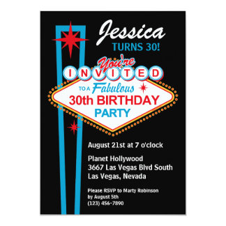 Las Vegas 30th Birthday Party Invitation