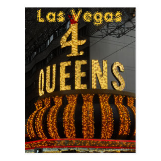 Las Vegas 4 Queens Postcard