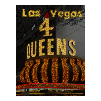 Las Vegas 4 Queens Print