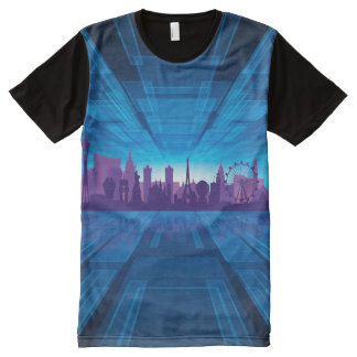 Las Vegas Abstract All-Over Print T-Shirt