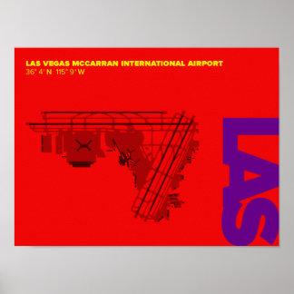 Las Vegas Airport (LAS) Diagram Poster