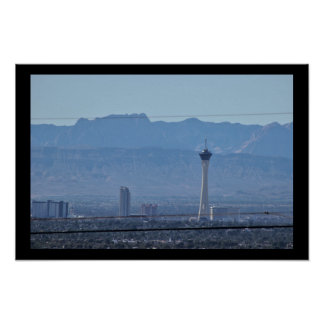 Las Vegas and Mountains Poster