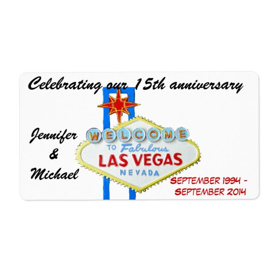 Las Vegas Anniversary Wine Labels