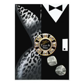 Las Vegas Art Deco Wedding Reception | silver 13 Cm X 18 Cm Invitation Card