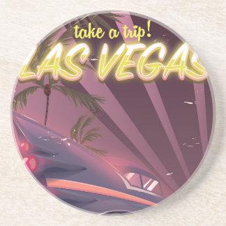 Las Vegas Auto vintage travel poster. Coaster