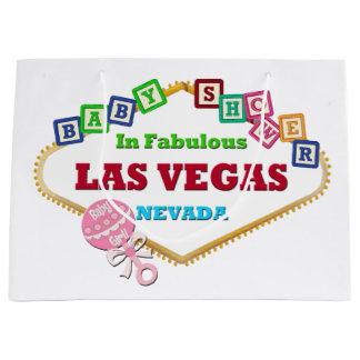 Las Vegas Baby Shower Gift Bag GIRL Large, Glossy