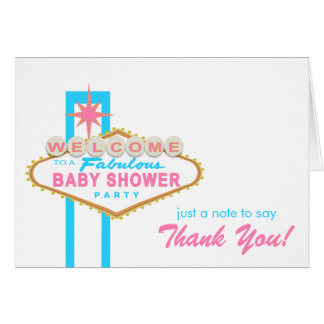 Las Vegas Baby Shower Sign Thank You Note Card