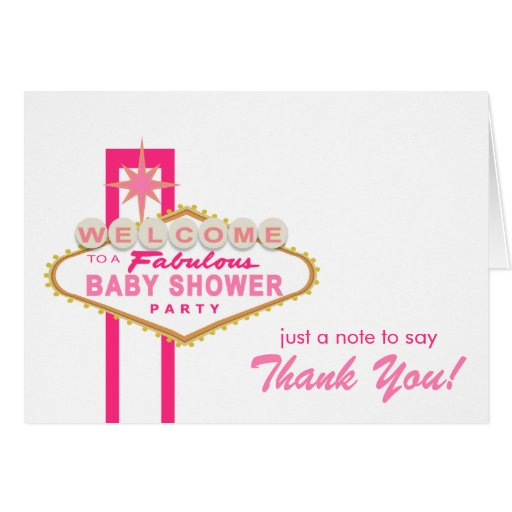 las vegas baby shower sign thank you note card zazzle