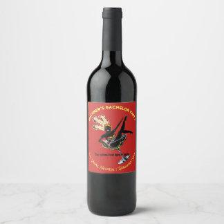 Las Vegas Bachelor Party Showgirl Wine Label