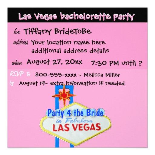 Las Vegas Bachelorette Final Fling Personalized Announcements