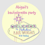 Las Vegas Bachelorette Party Round Stickers