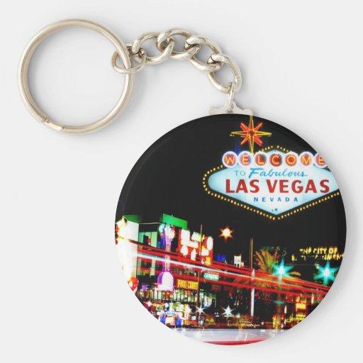 Las Vegas Basic Button Keychain