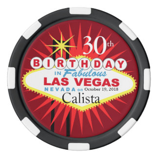 Las Vegas Birthday Casino Chip Set Of Poker Chips
