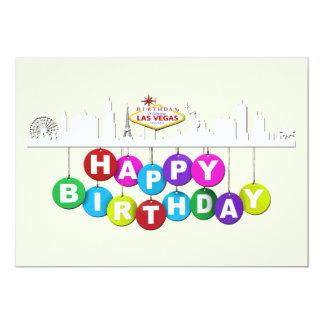"Las Vegas Birthday Matte 5"" x 7"",  Invitations"