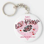 Las Vegas Birthday Party Favours Keychain