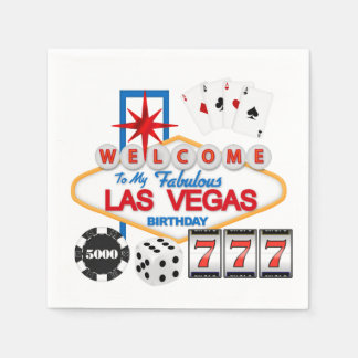 Las Vegas Birthday party paper napkins Paper Napkin