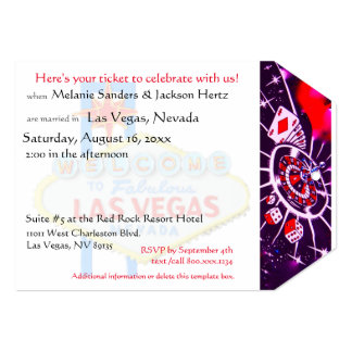 Las Vegas Birthday Party Ticket Card