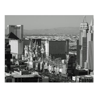 Las Vegas Black and White Photo Postcard