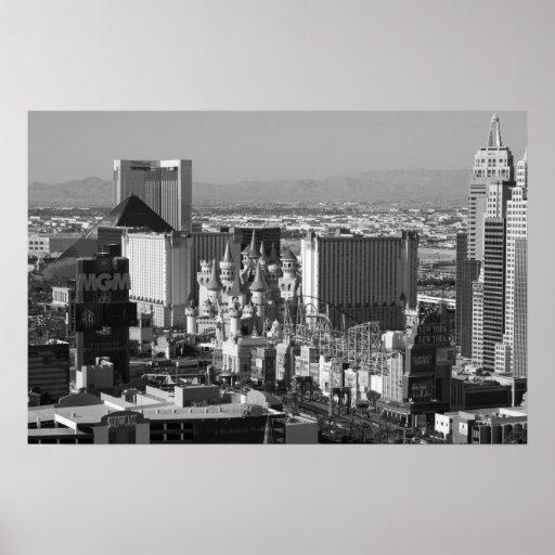 Las Vegas Black and White Photo Print