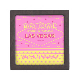 "Las Vegas Bridal Shower ""Bridesmaid"" Gift Box Premium Keepsake Box"