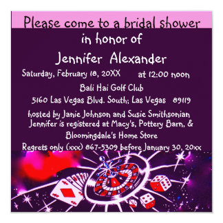 Las Vegas Bridal Shower Card