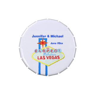 Las Vegas Bride and Groom Jelly Belly Candy Tins