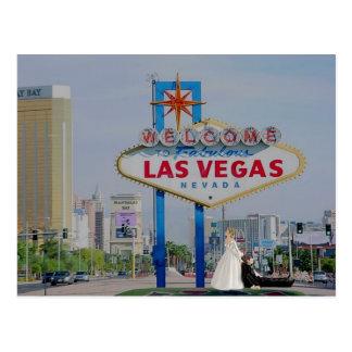 Las Vegas Bride & Groom Wedding Postcard