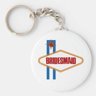 Las Vegas Bridesmaid Basic Round Button Key Ring