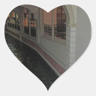LAS VEGAS Canals below Resorts Hotels Casinos City Heart Sticker