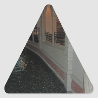 LAS VEGAS Canals below Resorts Hotels Casinos City Triangle Sticker
