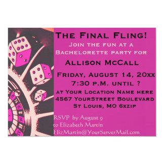 Las Vegas Casino Bachelorette Party 14 Cm X 19 Cm Invitation Card