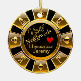 Las Vegas Casino Chip photo black gold Ornaments