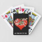 Las Vegas Casino  Gambling Red Heart Playing Cards