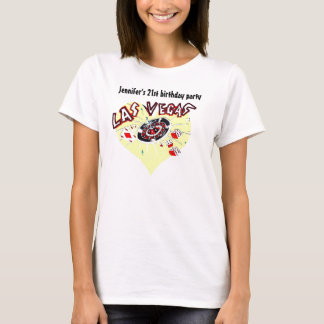 Las Vegas Casino Theme Birthday Party T-Shirt