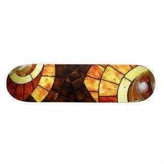 LAS VEGAS ceiling colored glass browns cream reds Custom Skateboard