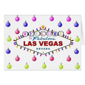 Las Vegas Christmas Cards with Ornaments