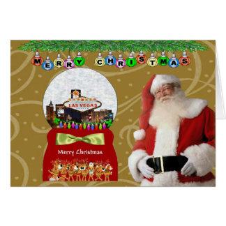 Las Vegas Christmas Globe Card