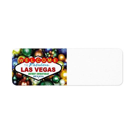 Las Vegas Christmas Labels