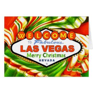 Las Vegas Christmas Ribbon Candy Card